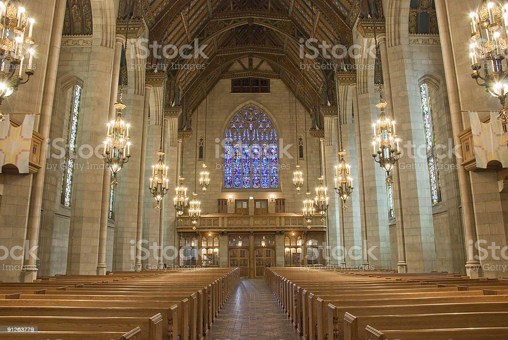 Church interior in Chicago, Illinois royalty-free stock photo