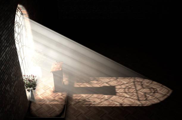 kyrkans interiör ljus & predikstol - penetrating bildbanksfoton och bilder