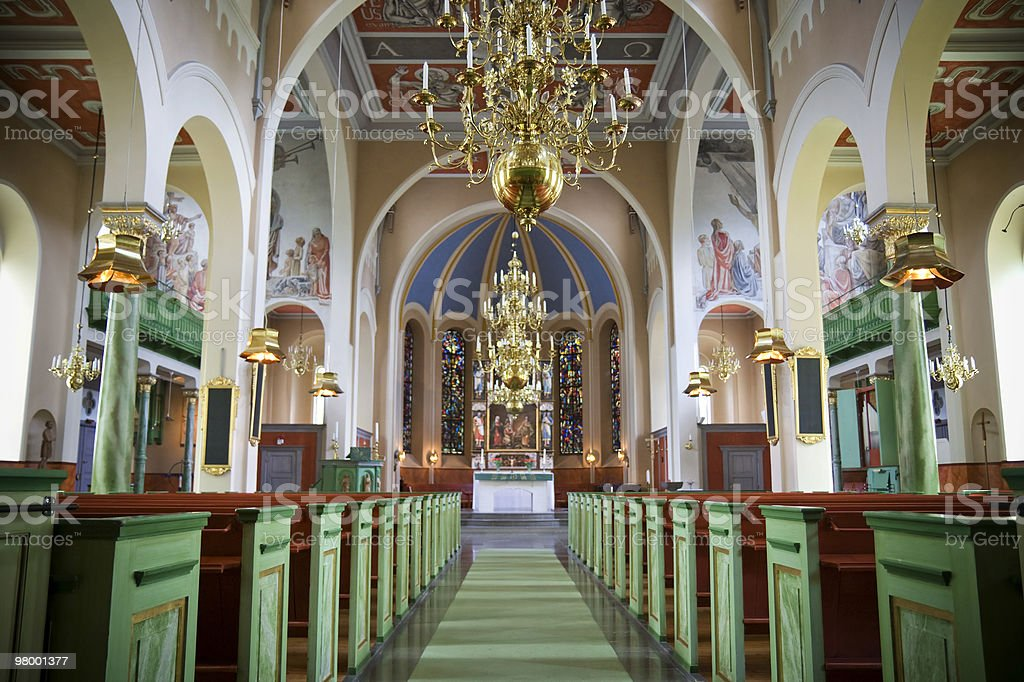 Church interior royalty free stockfoto