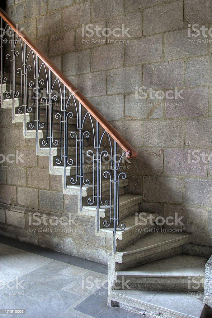 Church interior stairway royalty-free stock photo