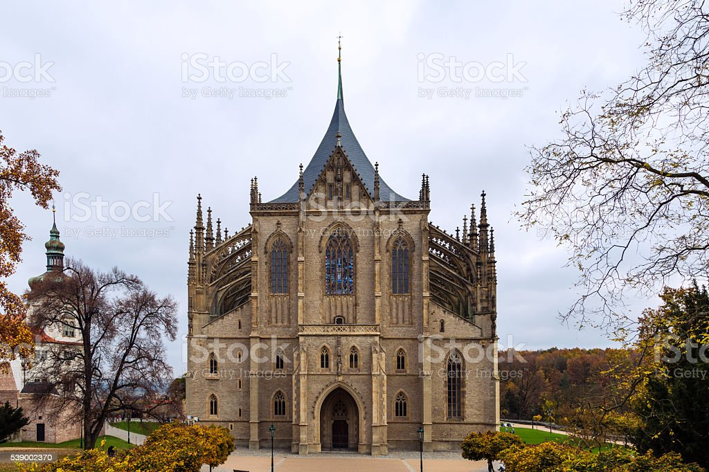 Church Kutna Hora Czech Republic stock photo