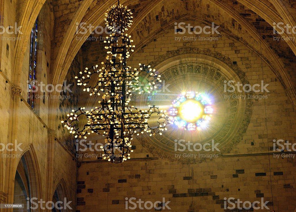 Church like a Holy Light from God royalty-free stock photo