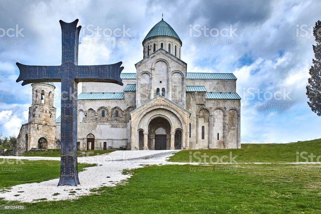Church, located Racha region of Georgia, lower Svaneti mountains stock photo