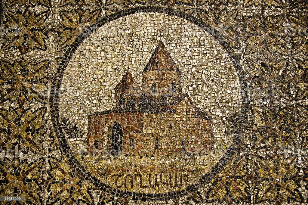 Church Mosaic stock photo