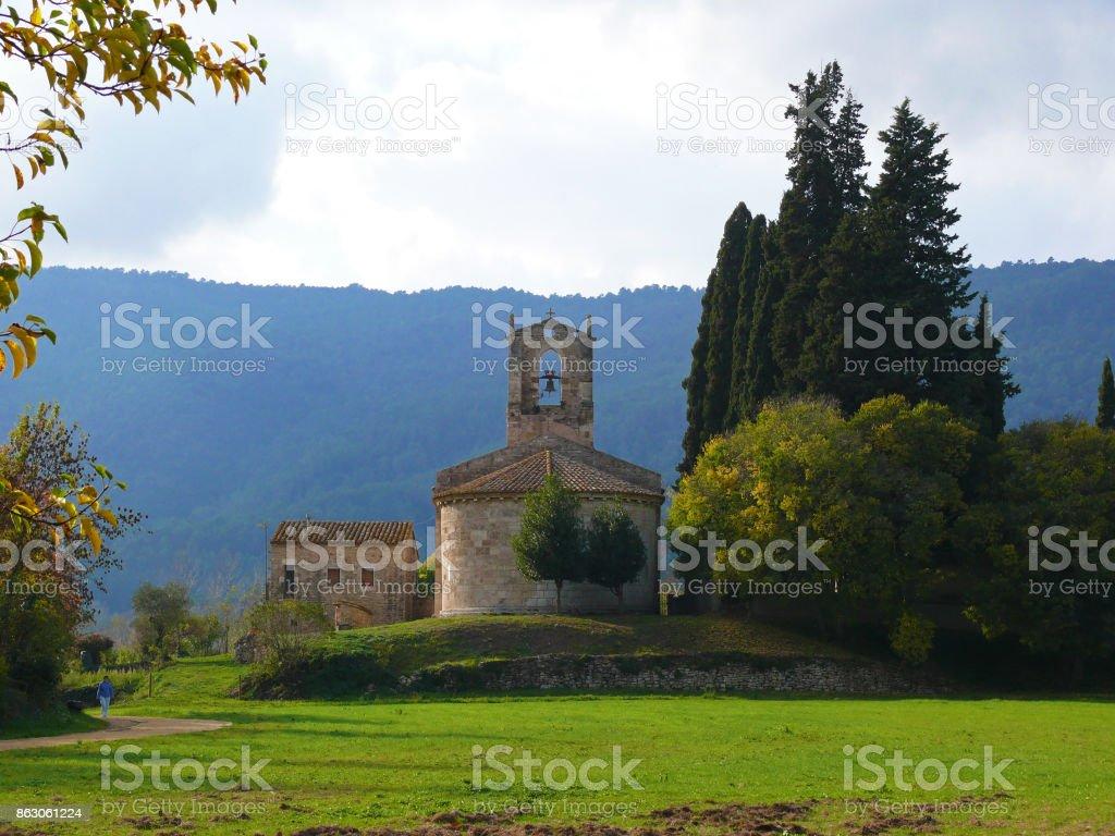 Church near Banyoles stock photo