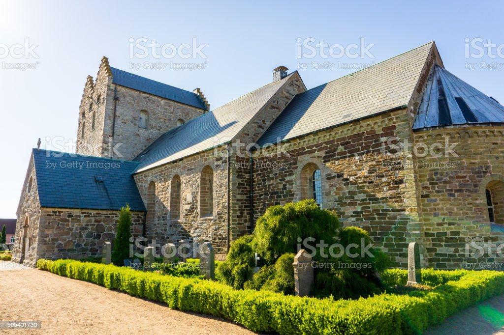 Church of Aakirkeby, Aa Kirke, Bornholm, Denmark on a day in summer zbiór zdjęć royalty-free