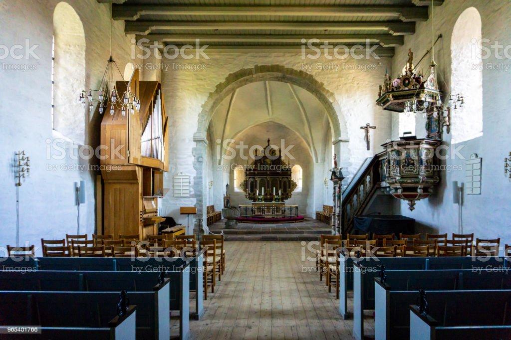 Church of Aakirkeby, Aa Kirke, Bornholm, Denmark zbiór zdjęć royalty-free