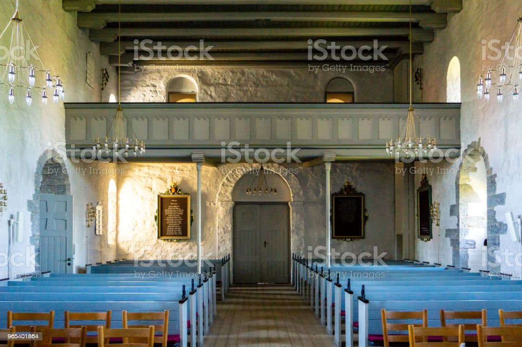 Aakirkeby 教堂, Aa 基克, Bornholm, 丹麥 - 免版稅丹麥圖庫照片