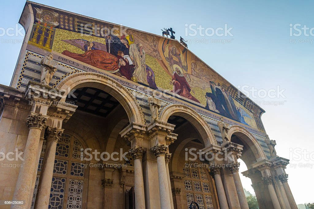 Church of All Nations in Jerusalem stock photo