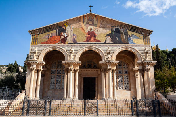 Church of All Nations Jerusalem Church of All Nations in garden of Gethsemane, Jerusalem, Israel historical palestine stock pictures, royalty-free photos & images