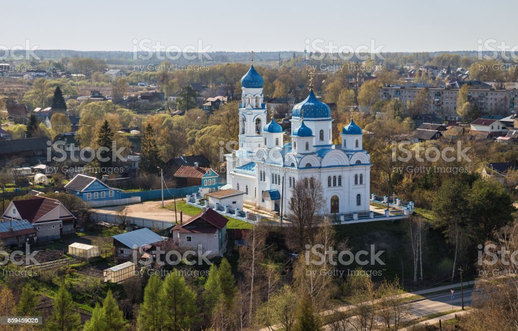 Church of Archangel Michael, Torzhok, Russia stock photo