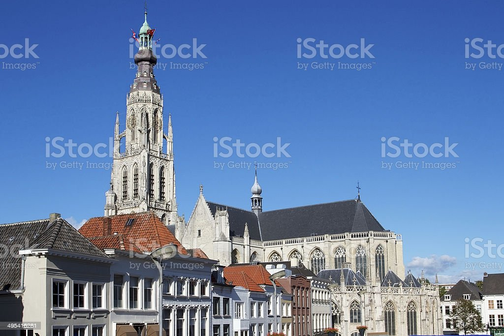 Church of Breda in the province of Brabant, Netherlands stock photo