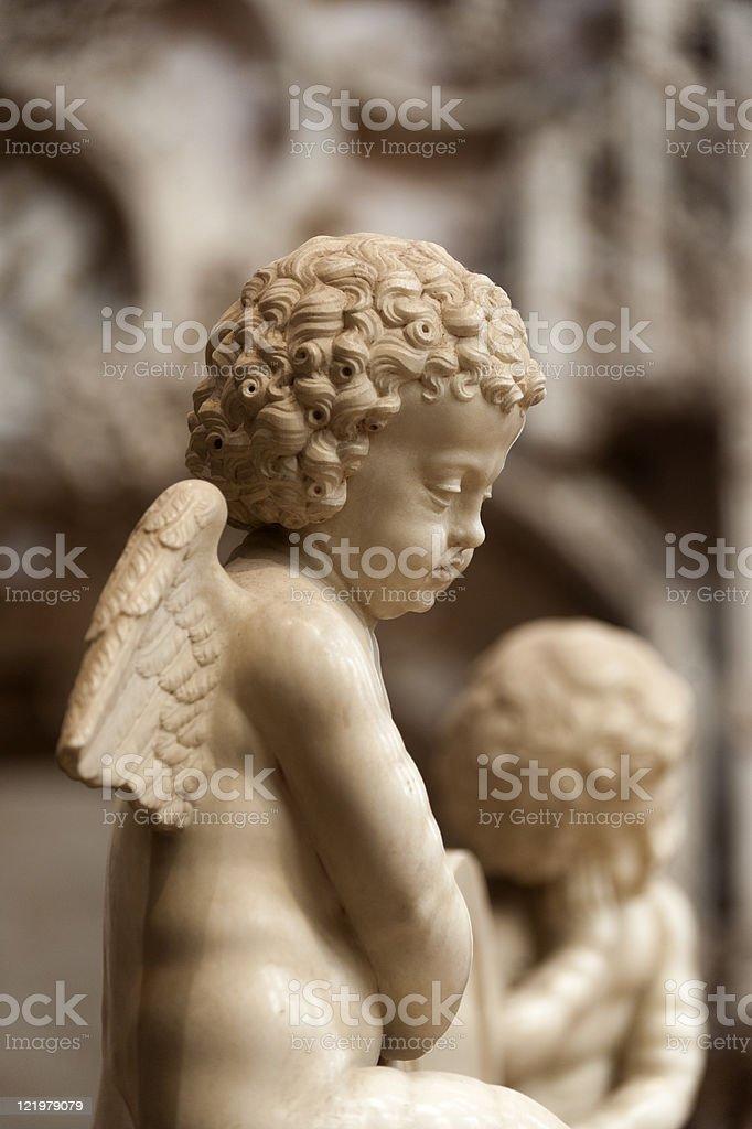 Église de Brou (Bourg-en-Bresse), intérieur: statue (angel - Photo