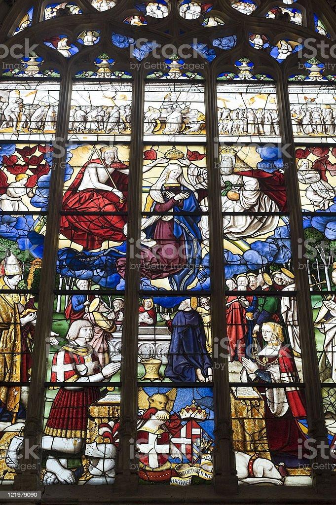 Église de Brou (Bourg-en-Bresse): Vitrail fenêtre - Photo