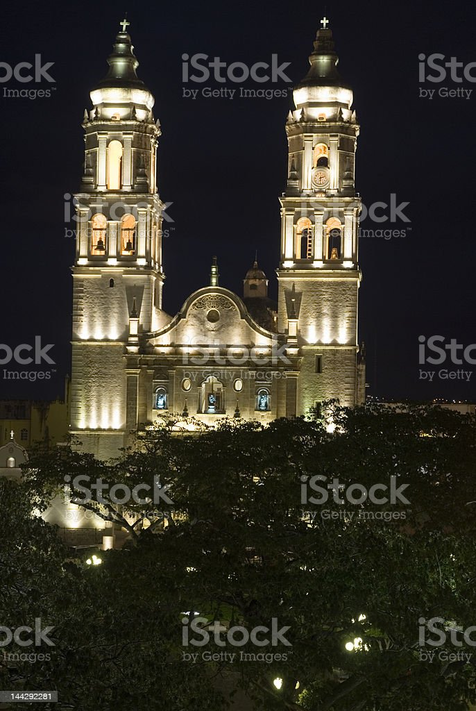 Church of Campeche stock photo