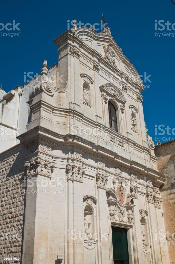 Church of Carmine. Martina Franca. Puglia. Italy. stock photo