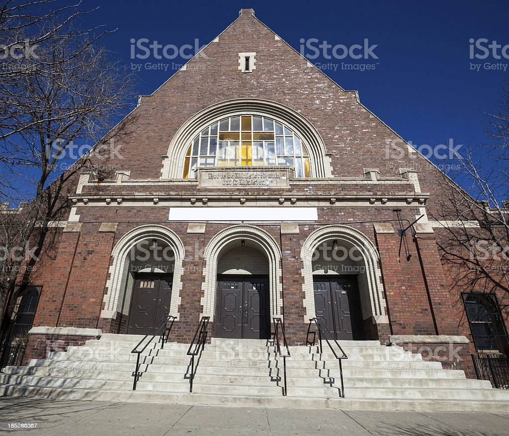 Church of Christ in East Garfield Park, Chicago royalty-free stock photo