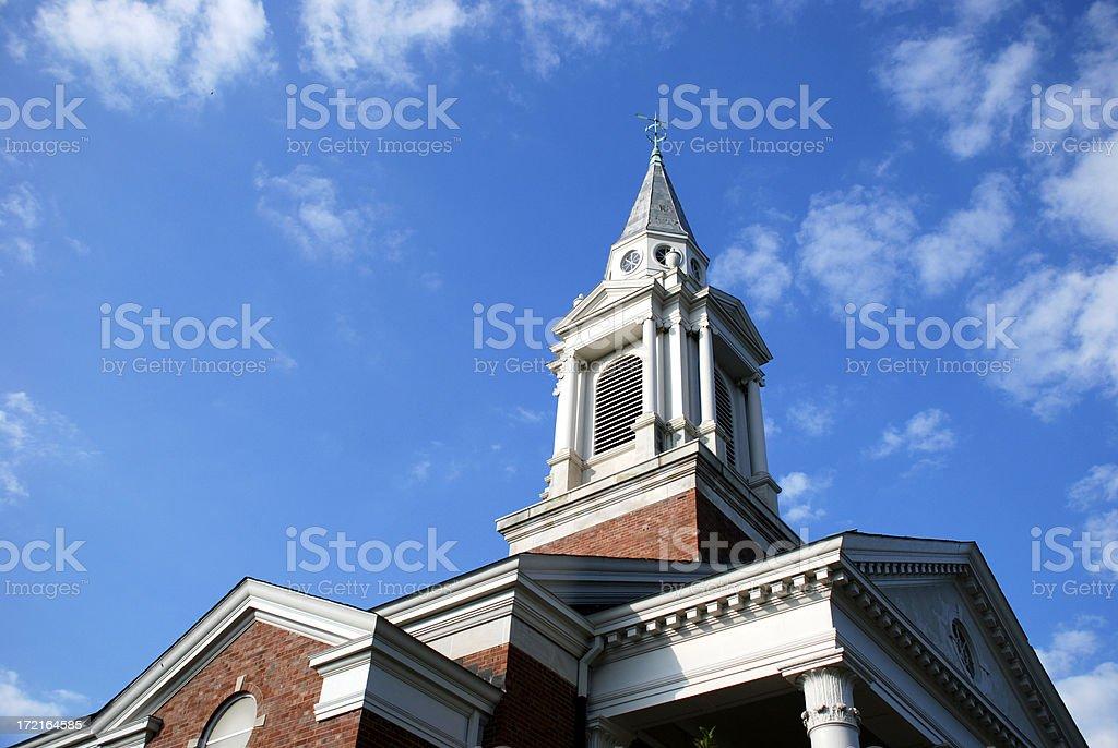 Church of Christ Steeple stock photo