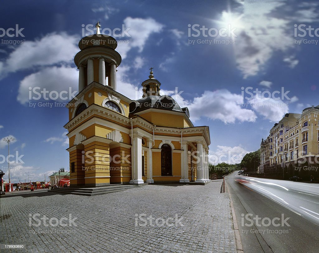 church of Christmas Dominical on the Postal area royalty-free stock photo