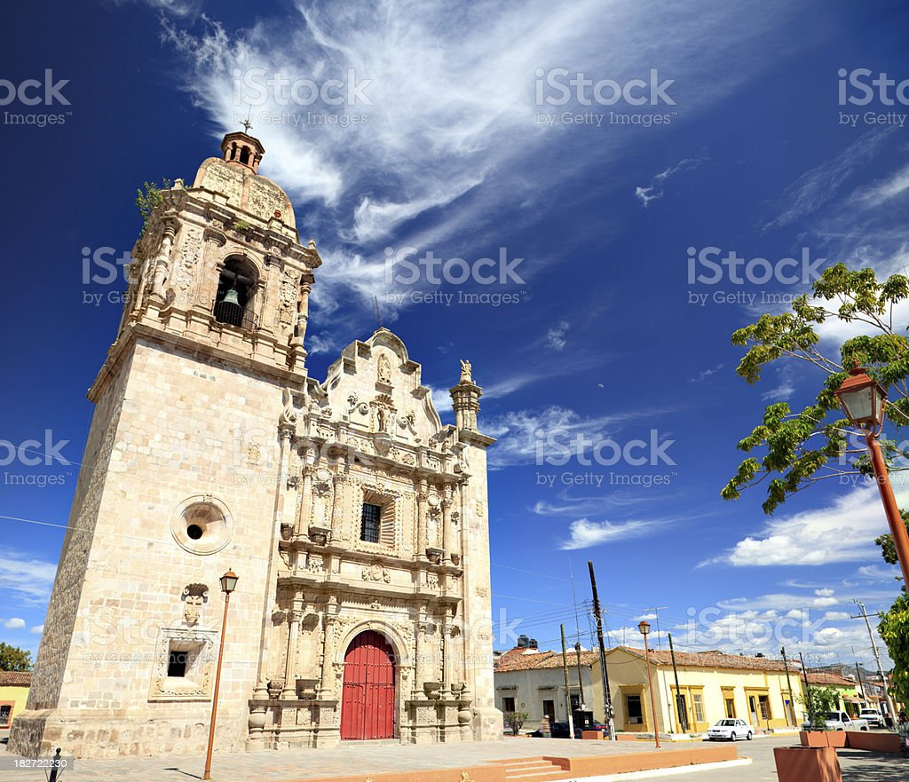 Church of Concordia, Mexico stock photo