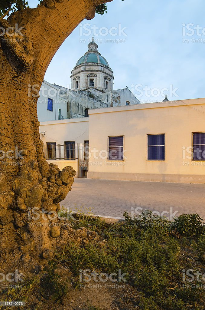Church of Di San Francesco D'assisi in Trapani, Sicily royalty-free stock photo