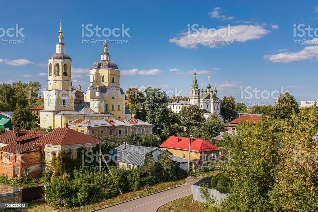 Église l'église du Prophète Élie et église de l'Assomption de la Sainte Vierge, Serpukhov; Russie. - Photo