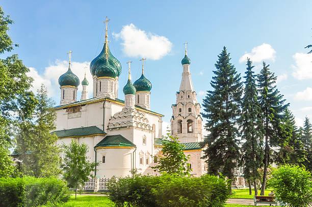 kirche von elijah der prophet yaroslavl, russland - russisch orthodoxe kirche stock-fotos und bilder