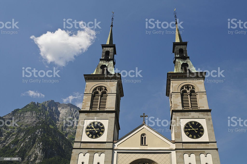 Church of Glarus stock photo