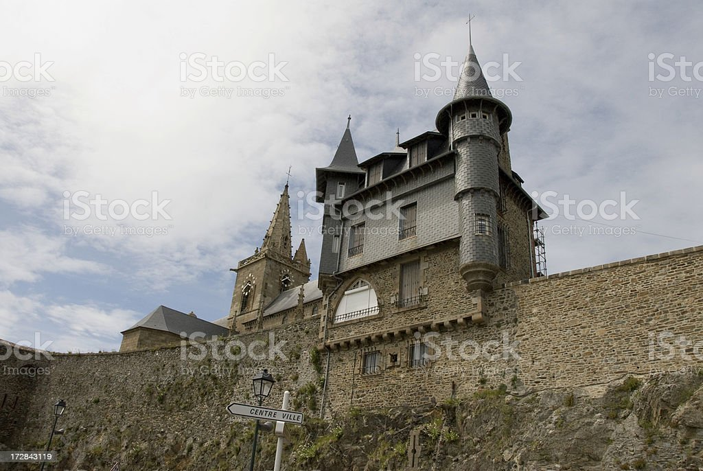 Church of Granville in France royalty-free stock photo