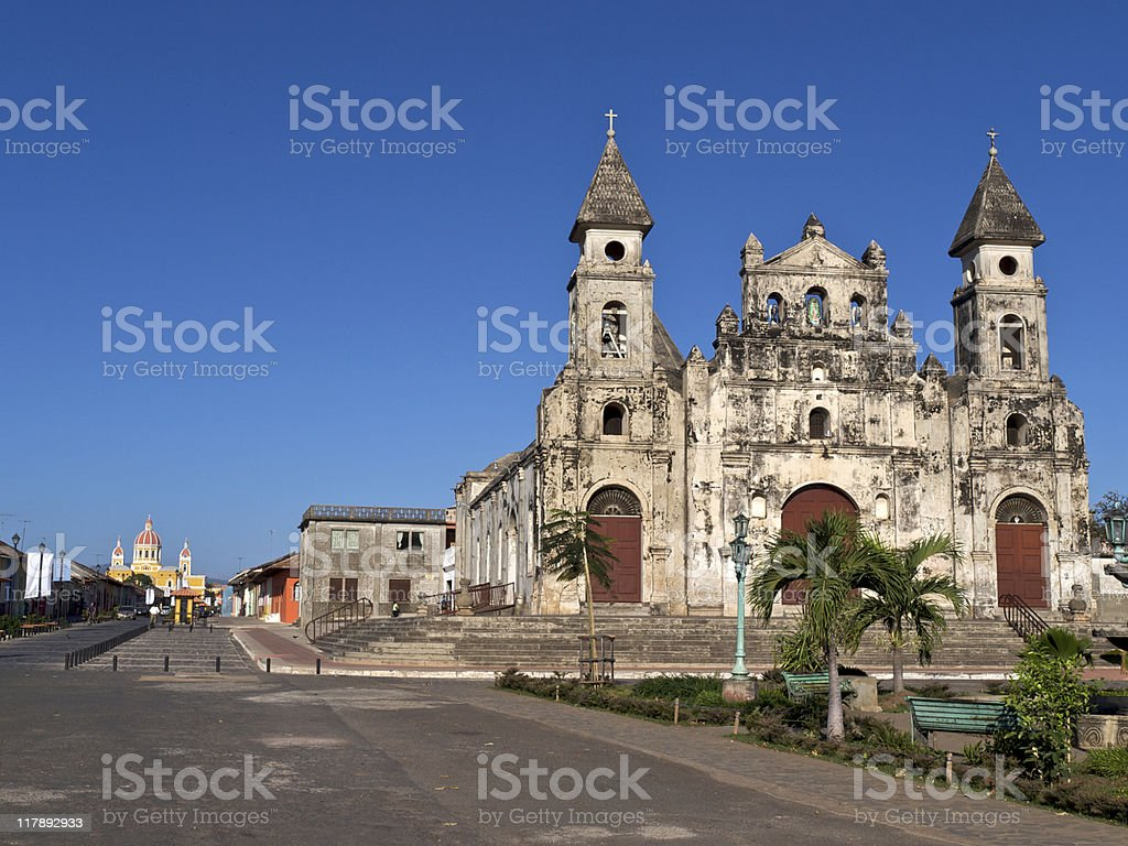 Church of Guadalupe Granada, Nicaragua stock photo