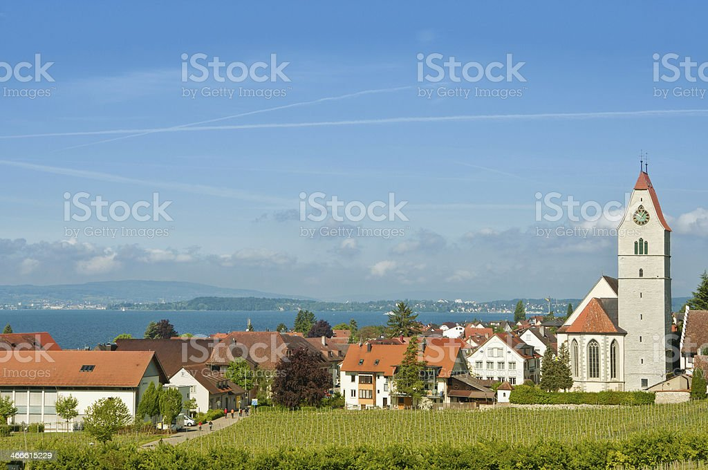 church of Hagnau - Lake Constance, Germany stock photo