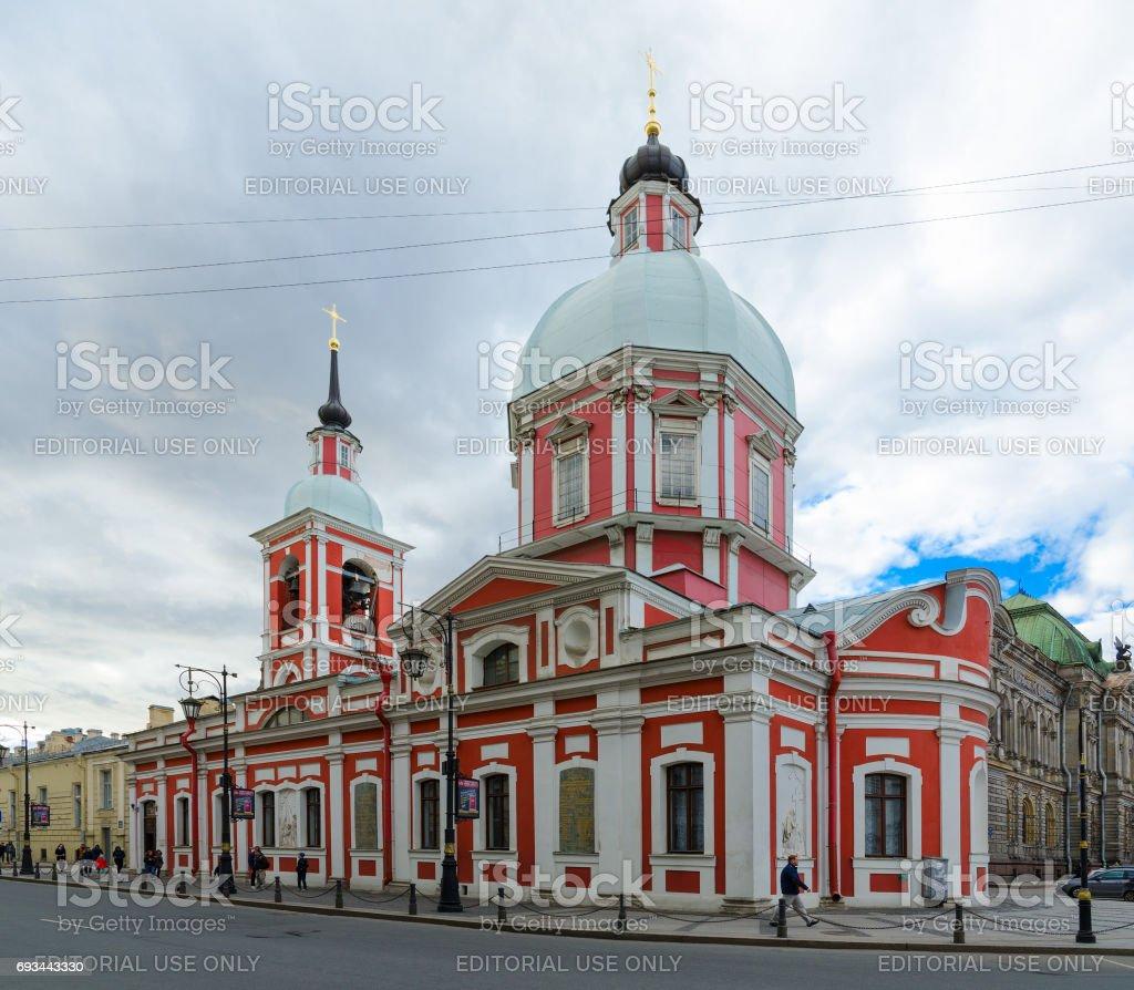 Church of Holy Great Martyr and Healer Panteleimon (Panteleimon Church), St. Petersburg, Russia stock photo