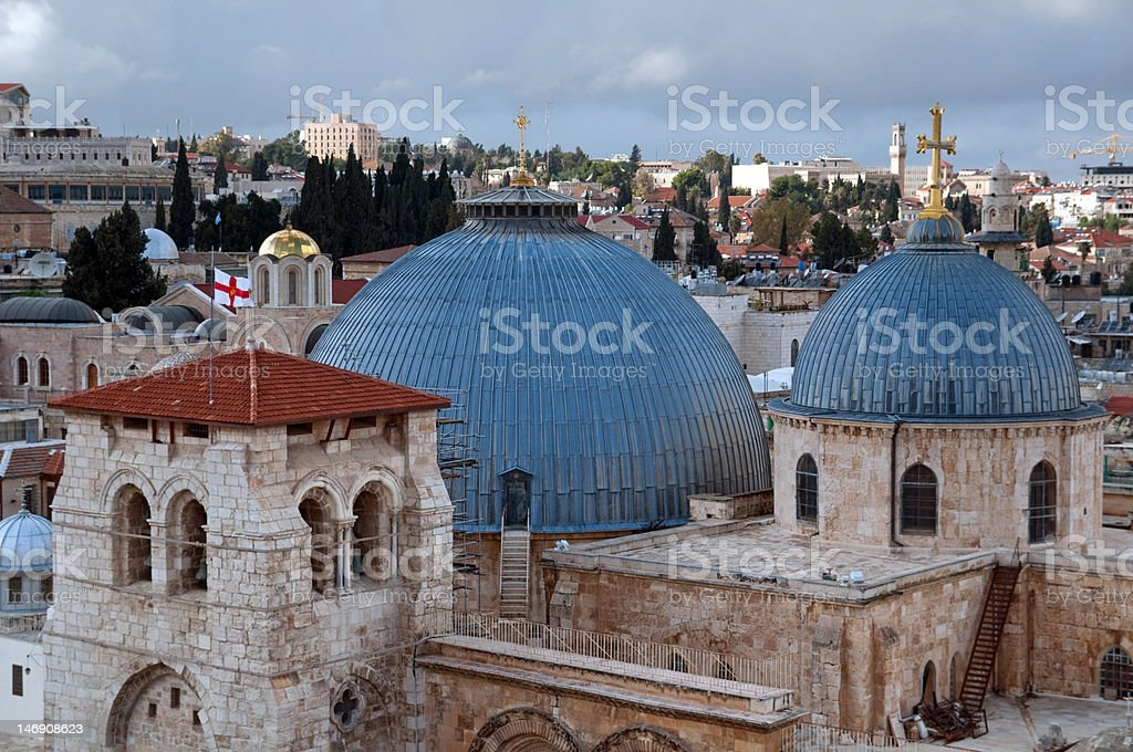 church of holy sepulchre royalty-free stock photo