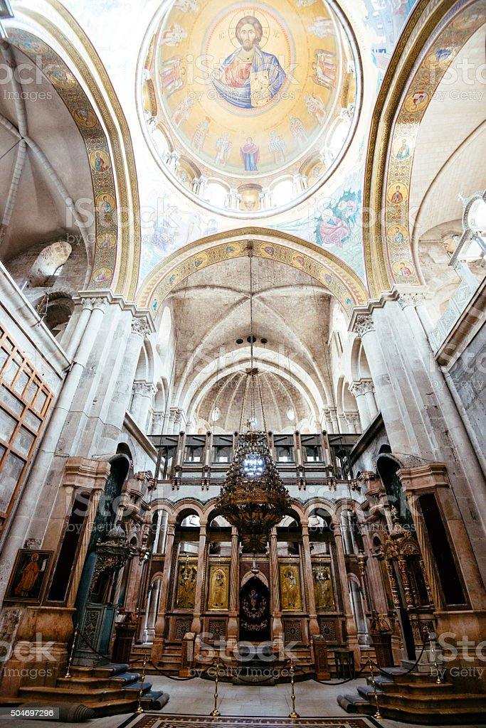 Church of Holy Sepulchre, Tomb of Jesus, Jerusalem, Israel stock photo