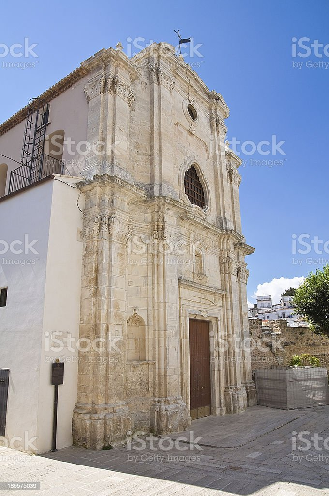 Church of Holy Trinity. Monte Sant'Angelo. Puglia. Italy. royalty-free stock photo