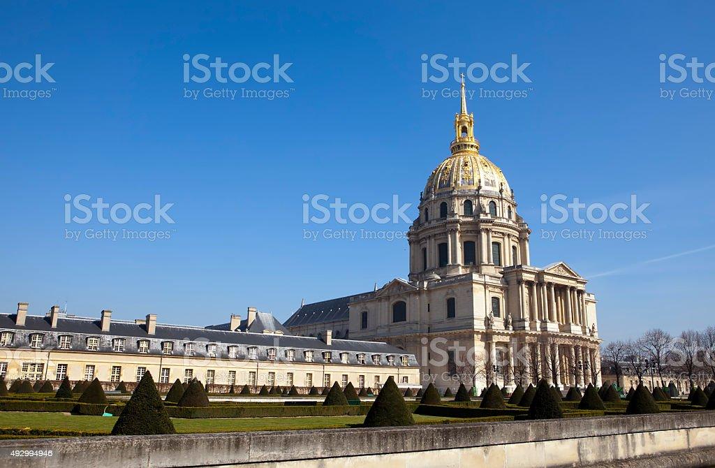 Church of Hotel des invalides, Paris, France stock photo