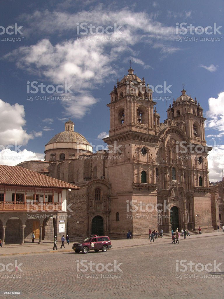 Church of La Compania royalty-free stock photo