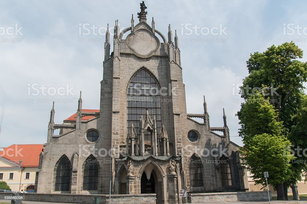 Church Of Lady And Saint John Baptist in Kutna Hora stock photo