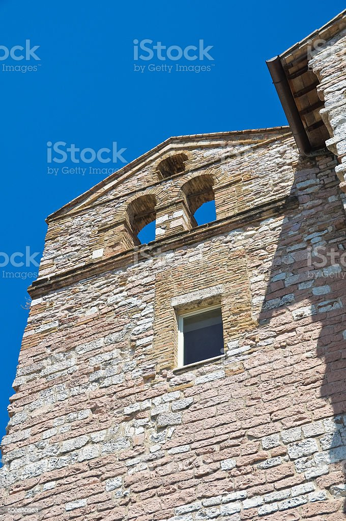 Church of Madonna delle Rose. Assisi. Umbria. Italy. stock photo