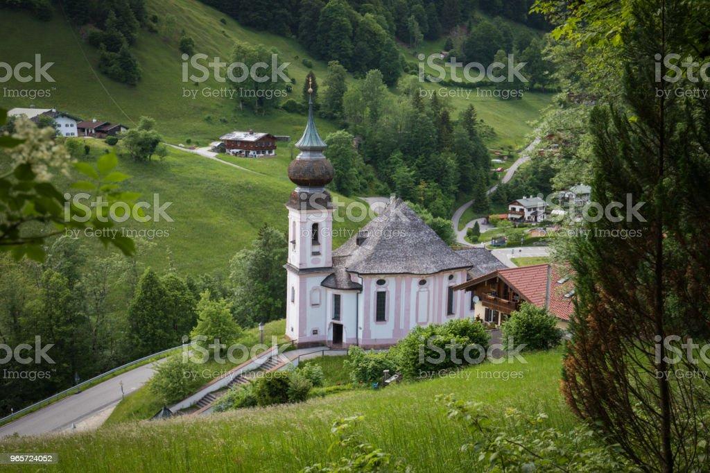 Church of Maria Gern with watzman mountain - Royalty-free Austria Stock Photo