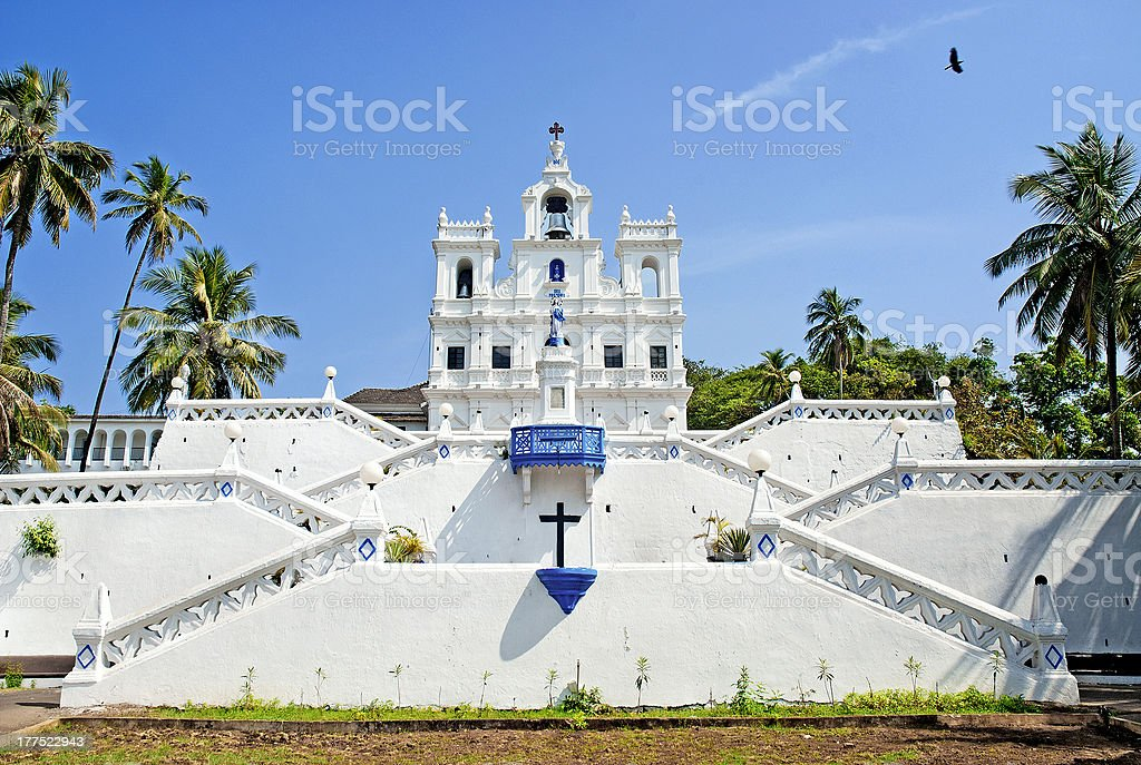 Church of Mary Immaculate Conception in panaji goa india stock photo