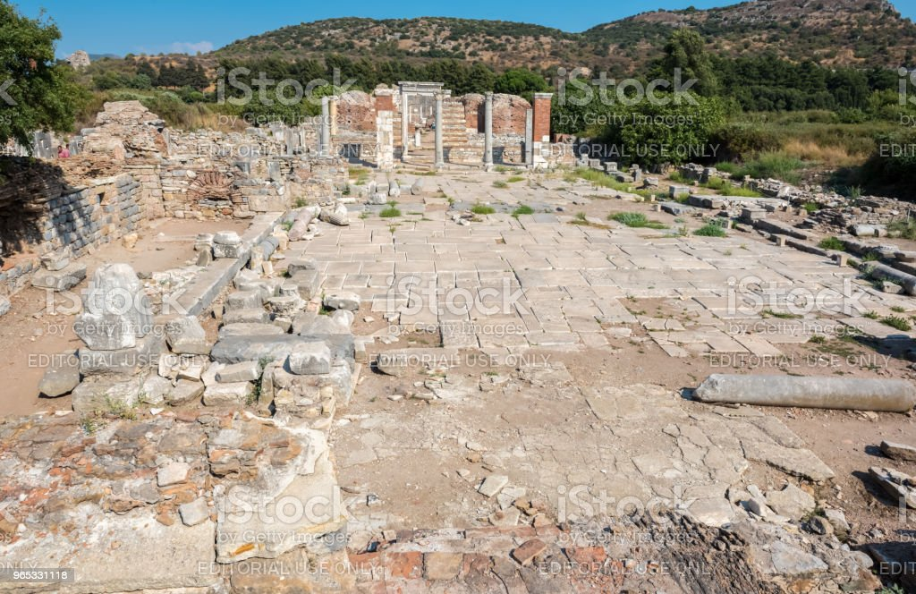 Church of Mary in Ephesus, Selcuk, Turkey royalty-free stock photo