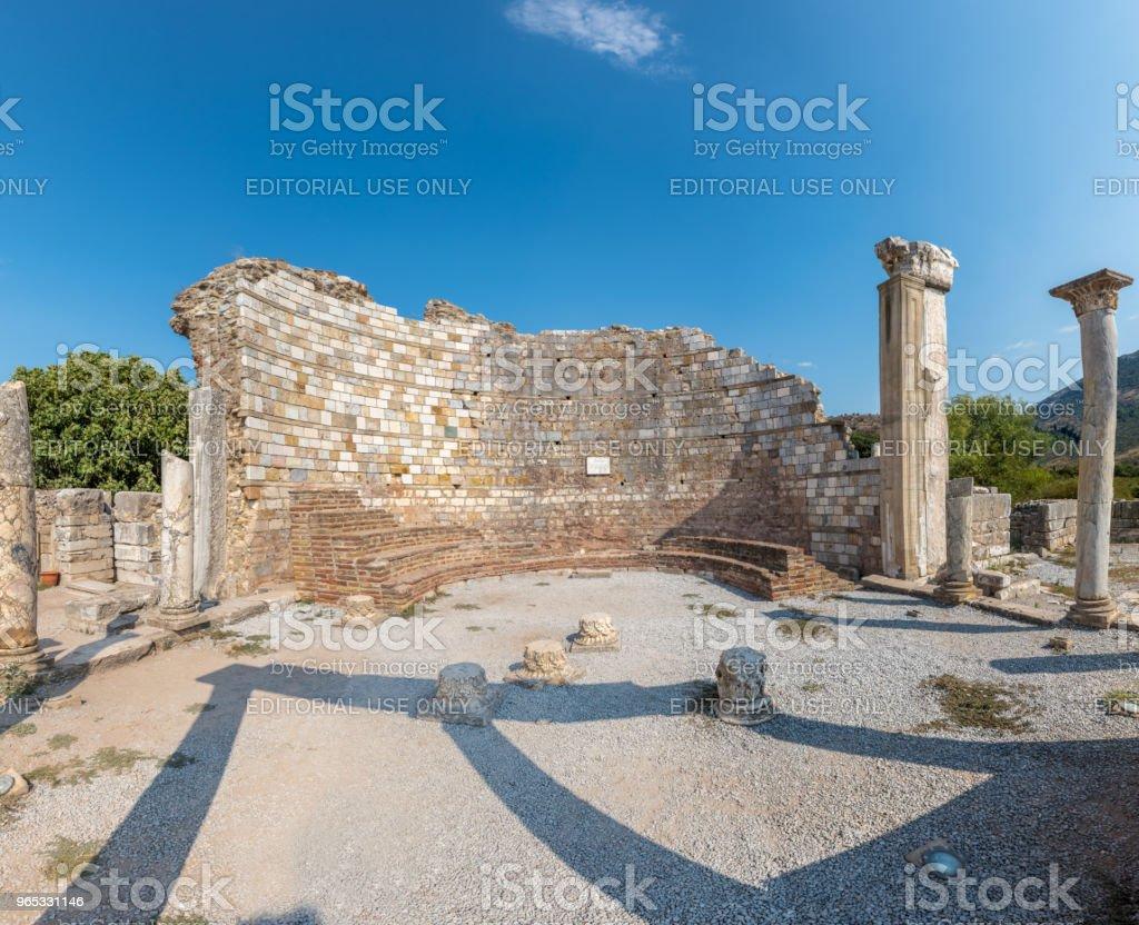Church of Mary in Ephesus, Selcuk, Turkey royalty-free stock photo