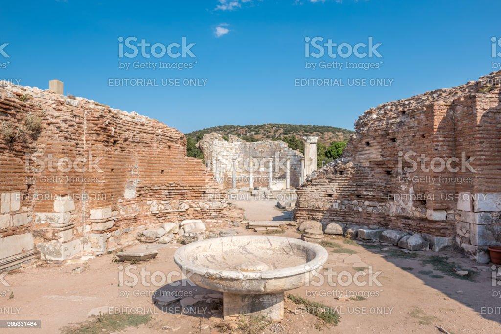 Church of Mary in Ephesus, Selcuk, Turkey zbiór zdjęć royalty-free