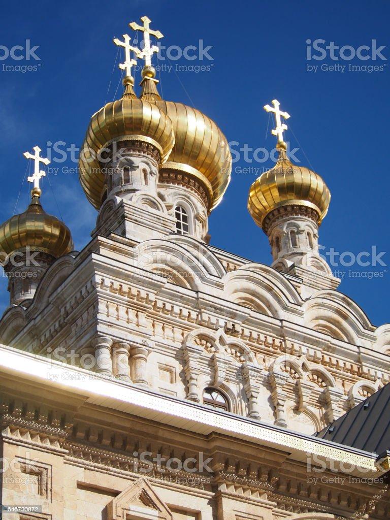 Church of Mary Magdalene in Jerusalem stock photo