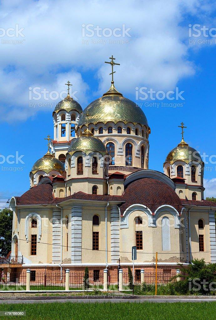 Church of Mary Magdalene in Nalchik city. stock photo