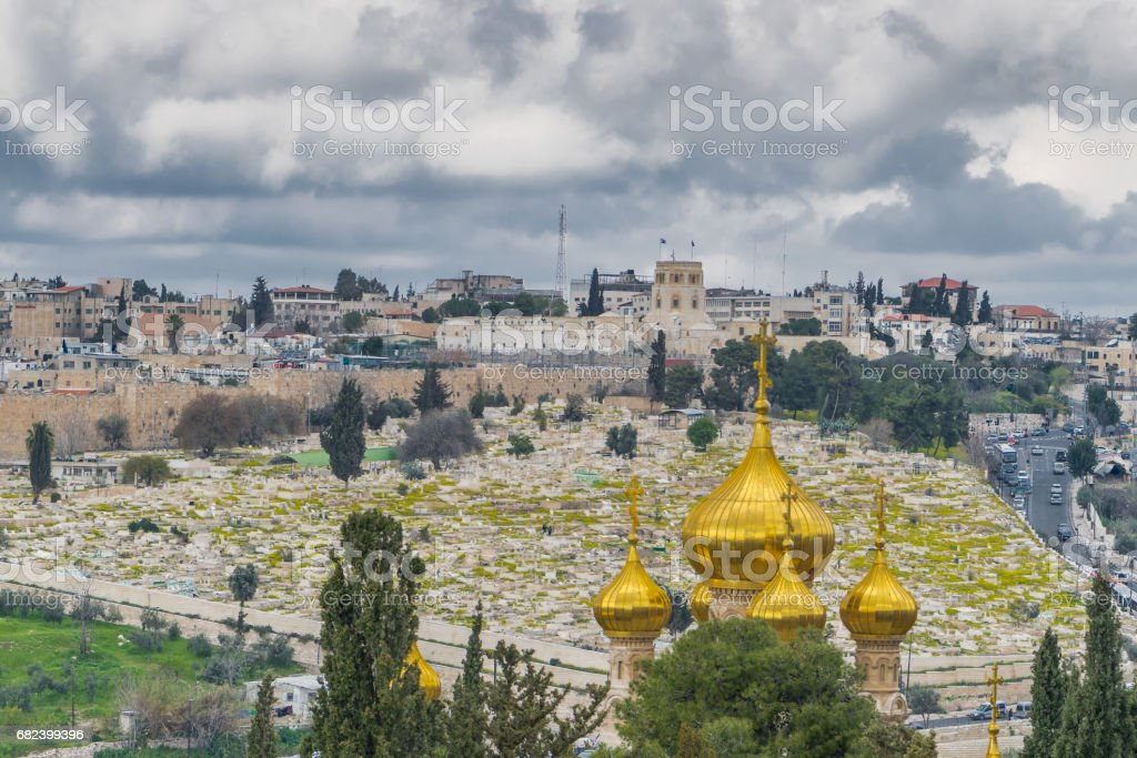 Church of Mary Magdalene with the view on the city royalty-free stock photo