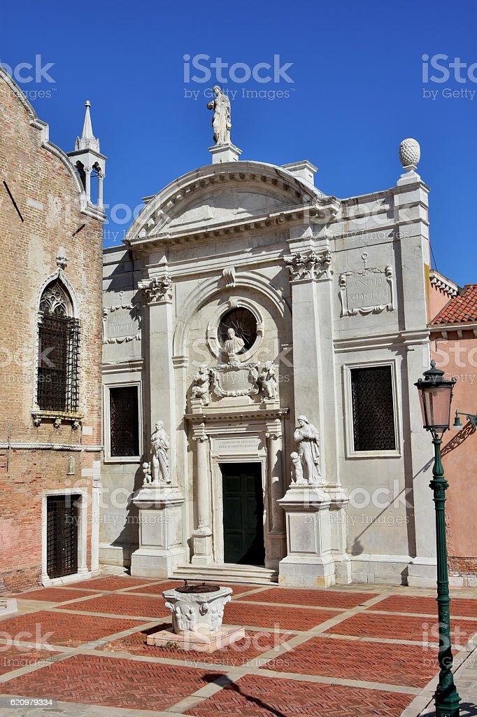 Chiesa della Misericordia in Venice foto royalty-free