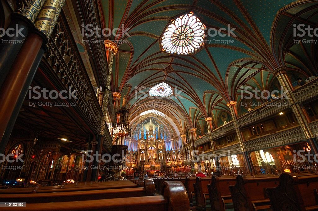 church of montreal stock photo