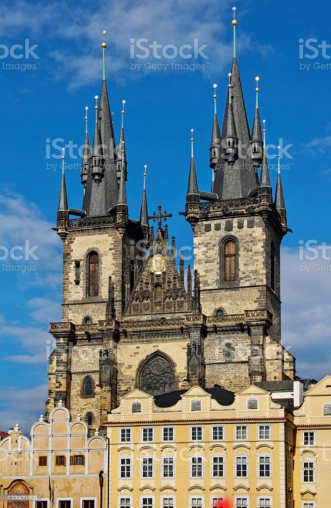 Church of Mother of God in front of Tyn, Prague stock photo
